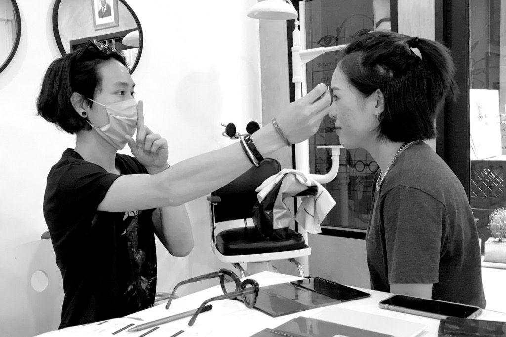 Face measurement for custom made eyewear